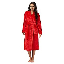 Lounge & Sleep - Dark orange fleece dressing gown