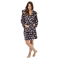 Lounge & Sleep - Grey polka dot print dressing gown
