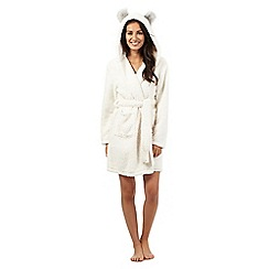 Lounge & Sleep - Cream hooded polar bear dressing gown
