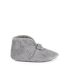 Isotoner - Grey 'Popcorn Terry' boot