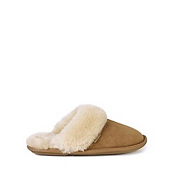 Just Sheepskin - Tan 'Duchess' mule slippers