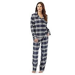 Lounge & Sleep - Navy checked pyjama set