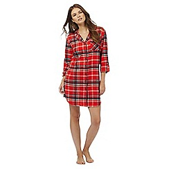 Lounge & Sleep - Red checked print nightshirt