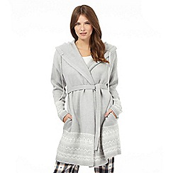 Lounge & Sleep - Grey knitted dressing gown