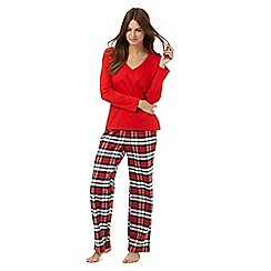 Lounge & Sleep - Red checked pyjama set