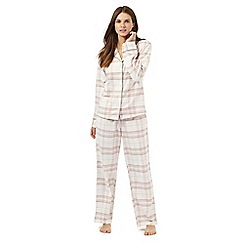 Lounge & Sleep - Petite light pink checked pyjama set