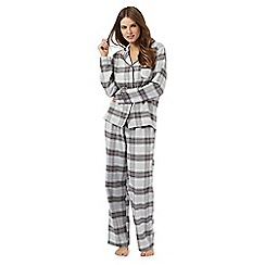 Lounge & Sleep - Grey sparkle checked pyjama set