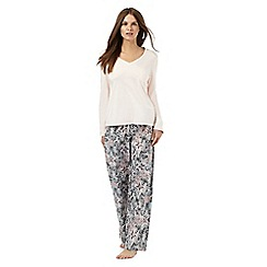 Lounge & Sleep - Pink butterfly print pyjama set