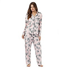 Lounge & Sleep - Pink floral print pyjama set