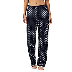 Lounge & Sleep - Navy spotted print pyjama bottoms