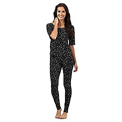 Lounge & Sleep - Black star print pyjama set