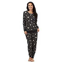 Lounge & Sleep - Dark grey star print sleepwear