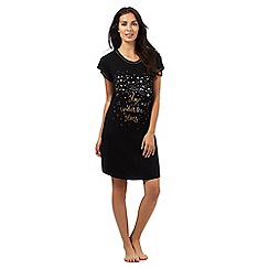 Lounge & Sleep - Black 'Under the starts' jersey nightdress
