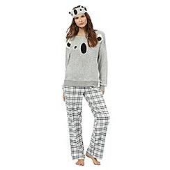 Lounge & Sleep - Grey koala three piece sleep set
