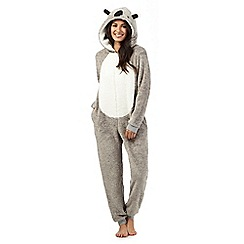 Lounge & Sleep - Petite grey koala onesie