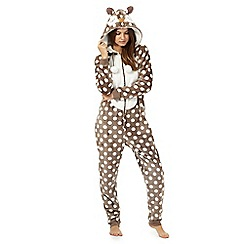 Lounge & Sleep - Taupe owl onesie