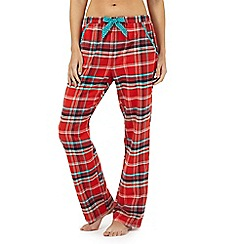 Lounge & Sleep - Petite red checked print pyjama bottoms