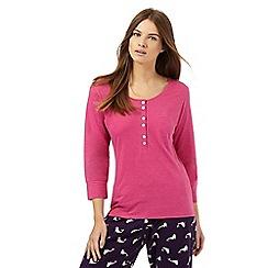 Lounge & Sleep - Pink pocket pyjama top