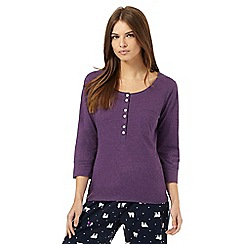 Lounge & Sleep - Purple pocket pyjama top