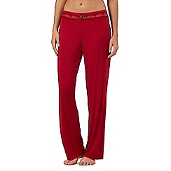 J by Jasper Conran - Red lace trim pyjama bottoms