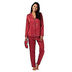 J by Jasper Conran - Red star print pyjama set