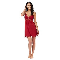 J by Jasper Conran - Red lace trim chemise