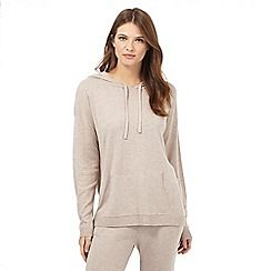 J by Jasper Conran - Natural hooded lounge top with silk