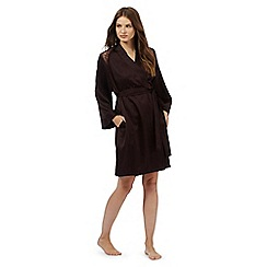J by Jasper Conran - Dark brown short lace trim wrap