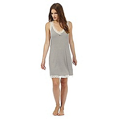 J by Jasper Conran - Brown striped hidden support night dress