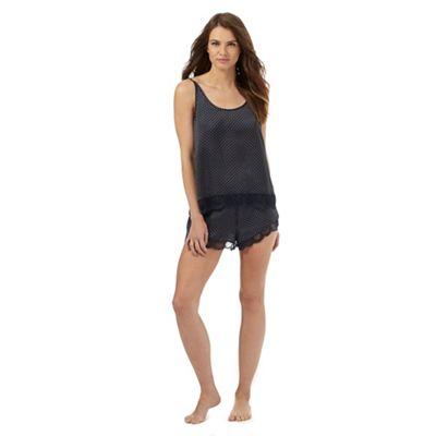 J by Jasper Conran Navy satin printed cami and shorts