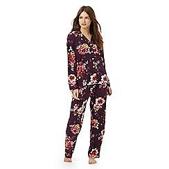 RJR.John Rocha - Purple floral print pyjama set