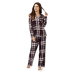 RJR.John Rocha - Purple checked pyjama set