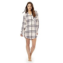 RJR.John Rocha - Light pink checked nightshirt