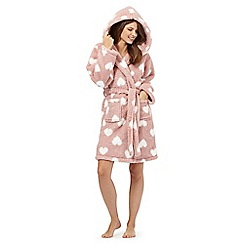 Lounge & Sleep - Pink heart print dressing gown