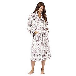RJR.John Rocha - Cream floral print dressing gown