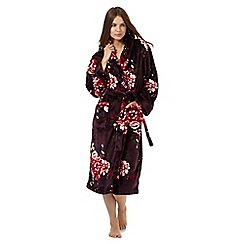 RJR.John Rocha - Purple rose print dressing gown