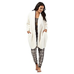 Lounge & Sleep - Cream cocoon dressing gown