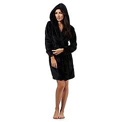 Lounge & Sleep - Black sequinned trim robe