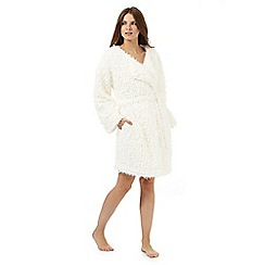 RJR.John Rocha - Cream shearling dressing gown