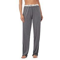 Lounge & Sleep - Tall grey butterfly print waist pyjama bottoms