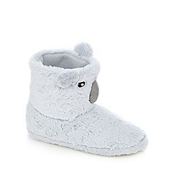 Lounge & Sleep - Grey koala novelty boots