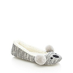 Lounge & Sleep - Grey koala ballet slippers