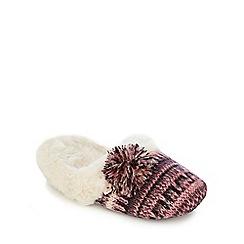 RJR.John Rocha - Purple metallic knit mule slippers