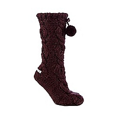 RJR.John Rocha - Purple basketweave slipper socks