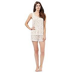 Lounge & Sleep - Light pink floral print pyjama cami and shorts set
