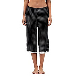 J by Jasper Conran - Black square print cropped pyjama bottoms