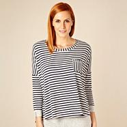 Designer grey striped drop sleeve night top