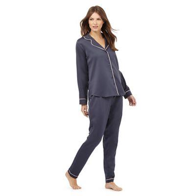 J by Jasper Conran Dark grey satin pyjama set