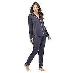J by Jasper Conran - Dark grey satin pyjama set