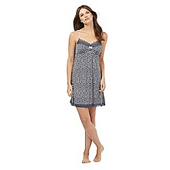 J by Jasper Conran - Dark grey printed lace trim chemise